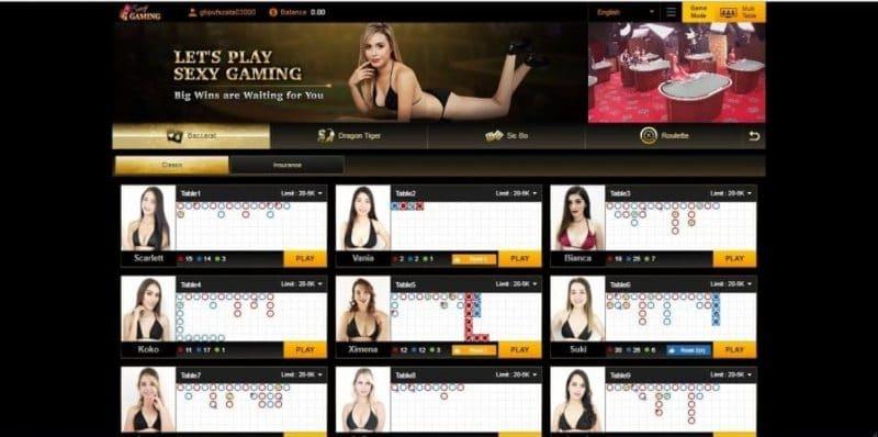 ค่ายเกมคาสิโนออนไลน์ SEXY BACCARAT